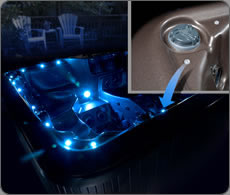 Quality hot tub features caldera spas and la z boy spa specifications both the caldera and garden leisure range of hot tubs have a mood setting led light system multi colour underwater light with multi colour above water lit publicscrutiny Choice Image