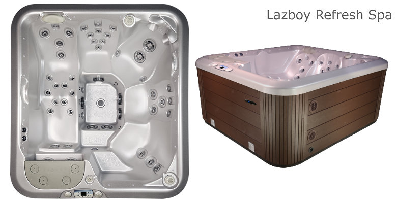 Compact 6 Seat Family Size Hot Tub Lazboy Refresh Spa